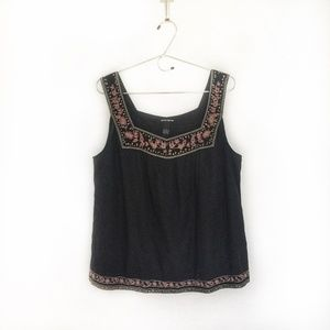 Lucky Brand - Square Neckline Embroidered Tank